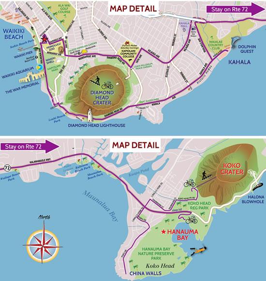 Snorkeling Oahu Map to Oahu's Best Snorkeling