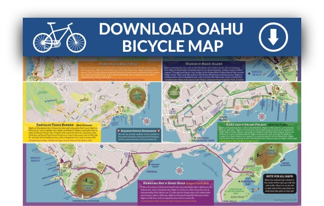 image regarding Oahu Map Printable named Oahu Motorcycle Routes ISLAND MAPS RIDES