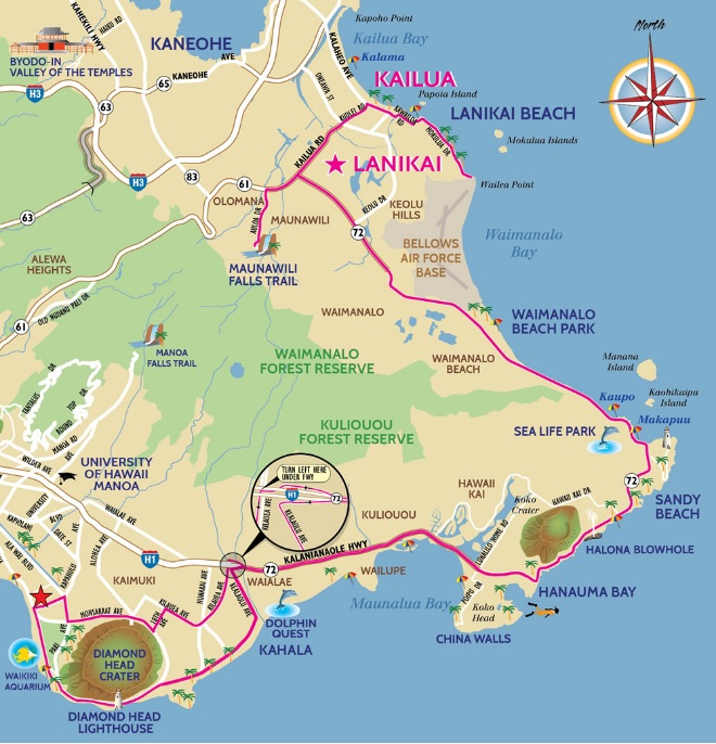Kailua-map - Hawaii Bike Rental: Beach Cruisers, Comfort Bikes, and on lahaina road map, oakland road map, kapaa road map, lihue road map, waikiki road map, oahu road map, hamakua road map, kona road map, alexandria road map, north shore road map, pauoa road map, honolulu road map, jackson road map, hilo road map, waikoloa road map, hawaiian islands road map, wheeler army airfield road map, long beach road map, rochester road map, kalaeloa airport road map,