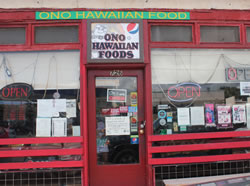 ONO HAWAIIAN FOOD ON KAPAHULU AVE
